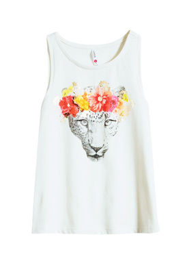 Leopard Flower Crown Tank