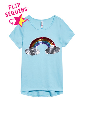 Rainbow Flip Sequin Tee