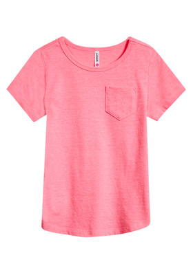 Fab Basic Scoop Neck Pocket Tee