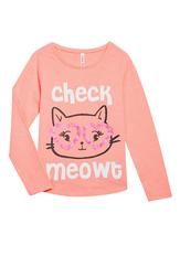 Check Meowt Long Sleeve Tee