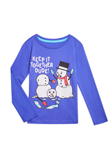 Snowman Long Sleeve Tee
