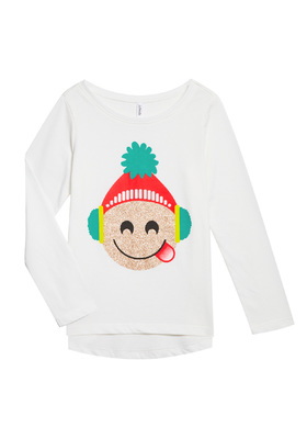 Holiday Emoji Long Sleeve Tee