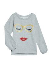 Glitter Lips Sweatshirt