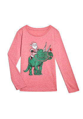 Santa Dino Long Sleeve Tee