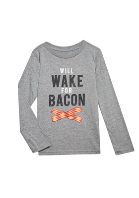 Wake For Bacon Long Sleeve