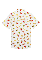Food Print Button Up