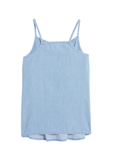 Tiered Chambray Top