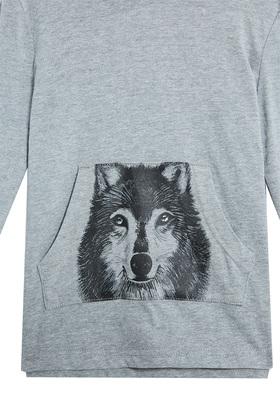Wolf Hoodie Tee