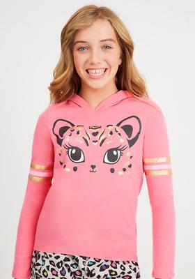 Leopard T-Shirt Hoodie