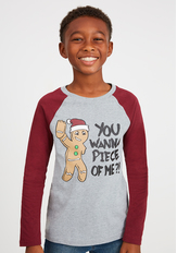 Gingerbread Raglan Tee